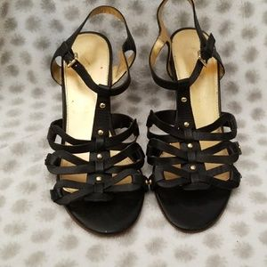Ivanka Trump Black Wedge Sandals